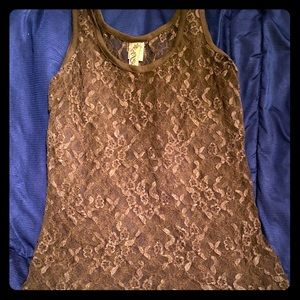 Lace tank top cover